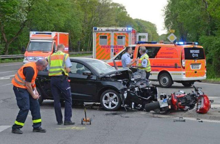 B58 Freudenberg Dorsten Schermbeck Tödlicher Verkehrsunfall