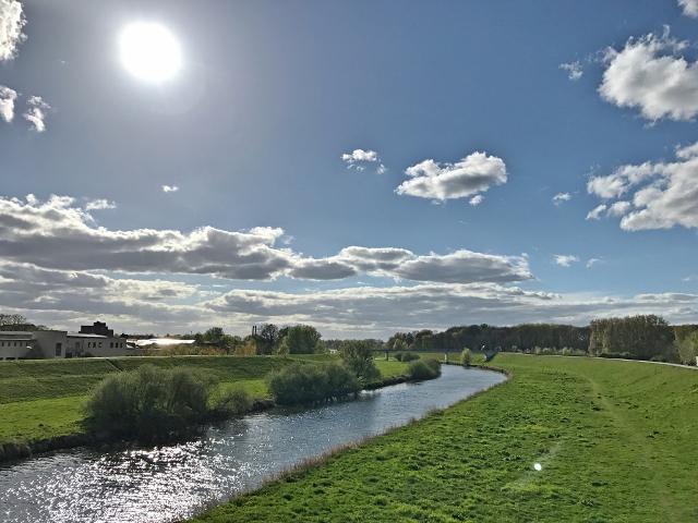 Flusslandschaft Dorsten mit Lippe und Kanal