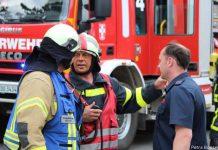 Gemeinsame Feuerwehrübung Erle Rhade