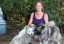 Spitzenrettung Fiona Blumberg fand am Mittwochmittag zwei herrenloser Hunde im Barloer Busch