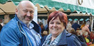 ahlen Gewinner beim Maßkrugstemmen Peter Finke und Sabine Borowski_