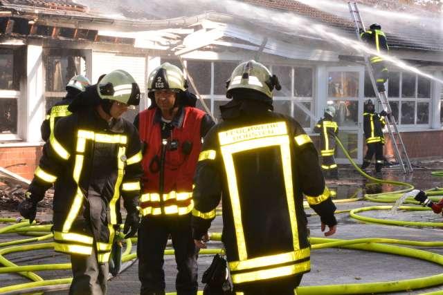 Großbrand in Behindertenwerkstätten Dorsten-Wulfen