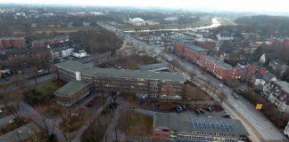 Rathaus Dorsten Luftaufnahme