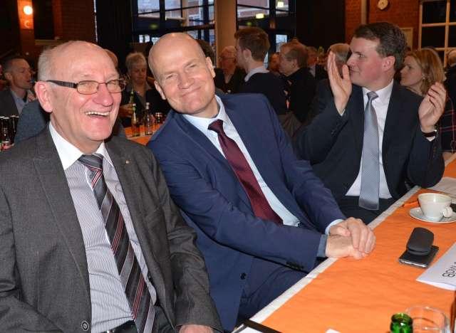 Ludger Föcker sowie der neue Fraktionsvorsitzende der Bundes-CDU, Ralph Brinkhaus.