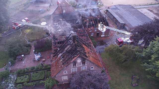 Der Verlust des Gebäudekomplexes konnte nicht verhindert werden