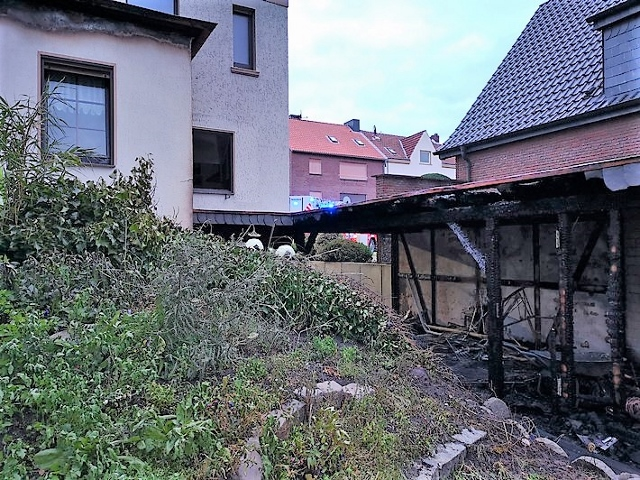 Dramatische Rettung in Dorsten nach Brand