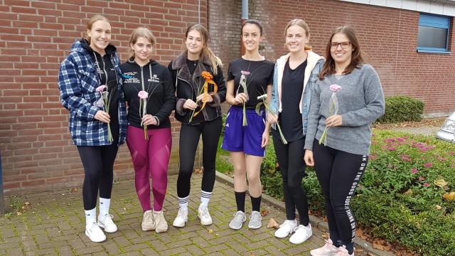 v.l.n.r. Lara Lojdl, Melissa Borutta, Sina Jansen, Julia Bläser Lisa Bläser und Sabrina Lojdl.