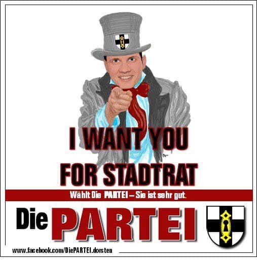 Die Partei Dorsten Werbung Kommunalwahl Dorsten