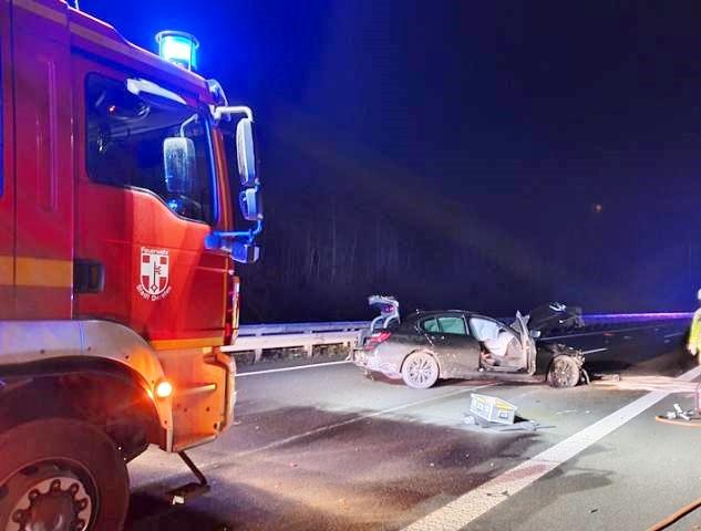 Schwerer Verkehrsunfall A 31 Schermbeck Dorsten