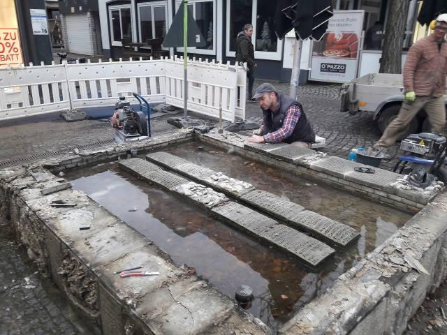 Tisa-Brunnen in der Altstadt Dorsten