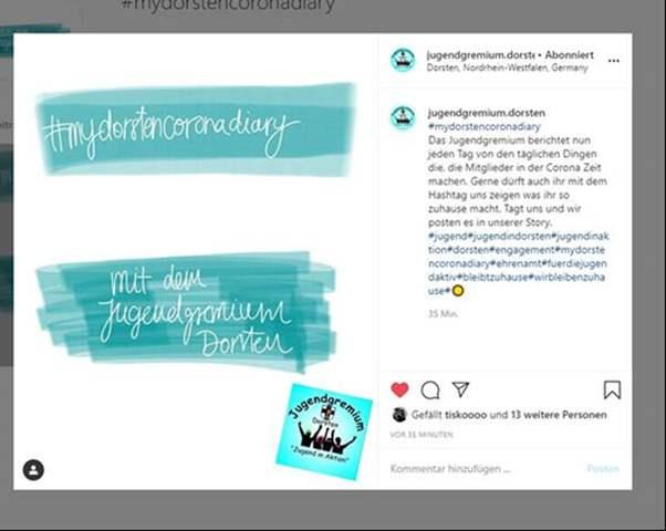 Tagebuch für Jugendliche Dorsten auf Instagram