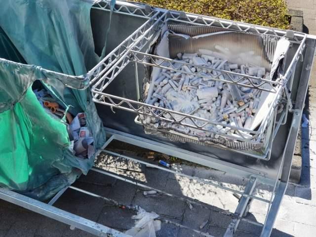Altbatterien fingen Feuer in Dorsten