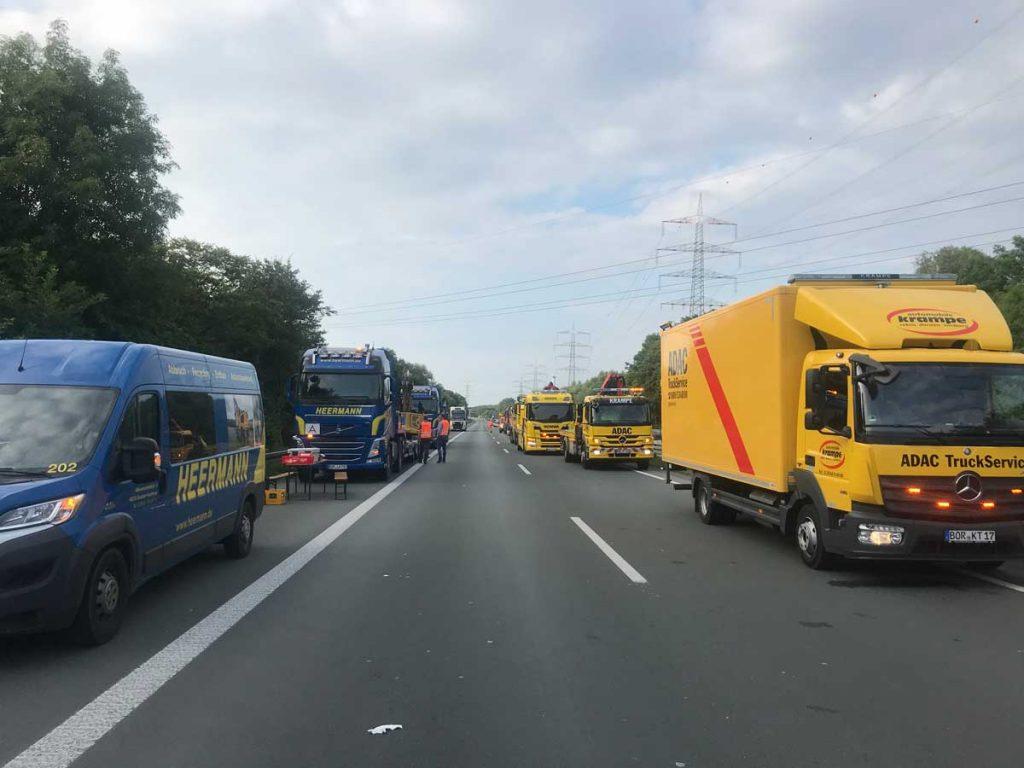 Schwerer Unfall auf der A31 bei Gladbeck