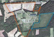Industriepark-Große-Heide,-Luftbild-mit-Grundstücksgrenzen-der-Flächen-an-der-B-58-