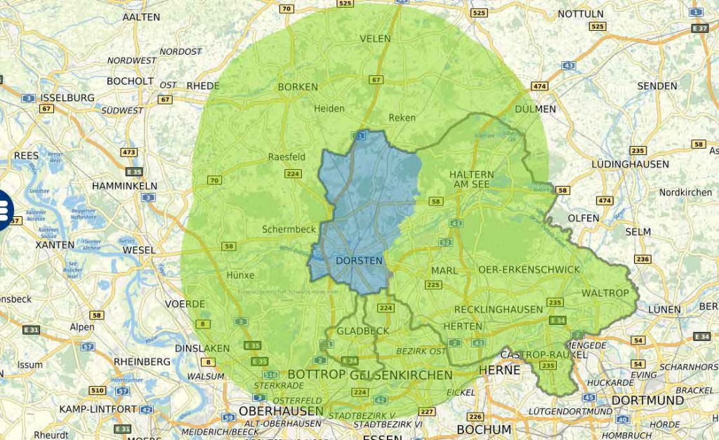 Interaktive-Karte-15-km-auch-Kreis-Recklinghausen