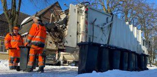 Müllabfuhr im Schnee Dorsten 2021