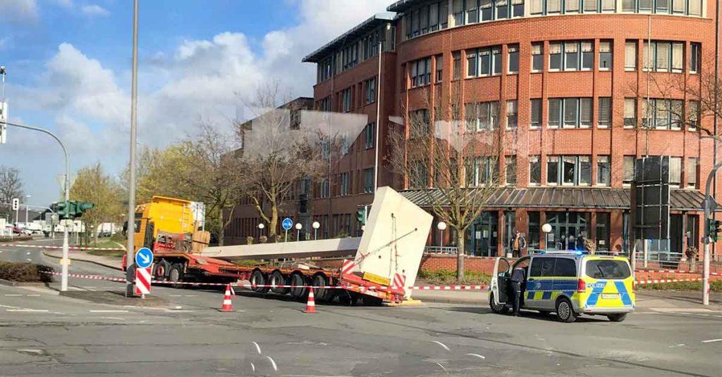 Schertransporter Laster Unfall Dorsten