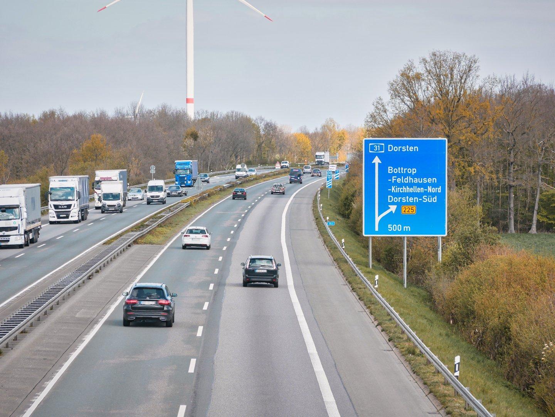 Sperrung A31 Ddorsten Emden und Oberhausen