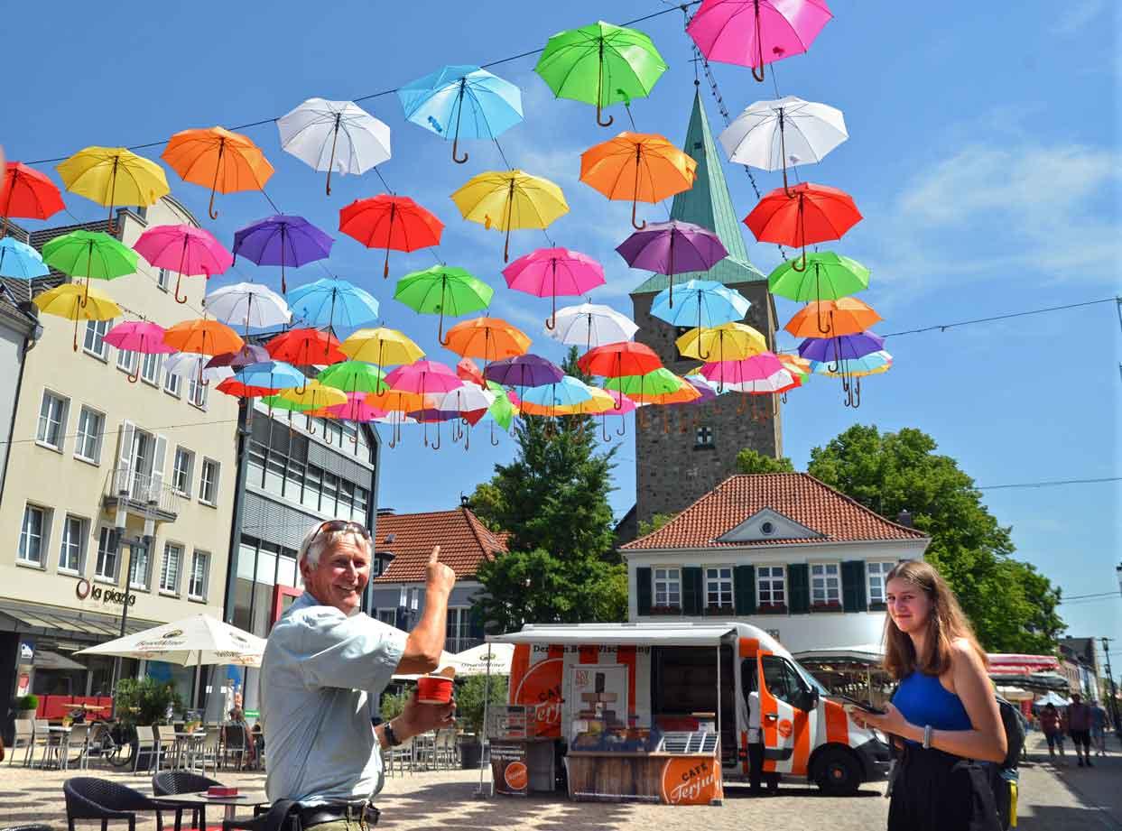 Schirm-Aktion-Dorsten-Altstadt
