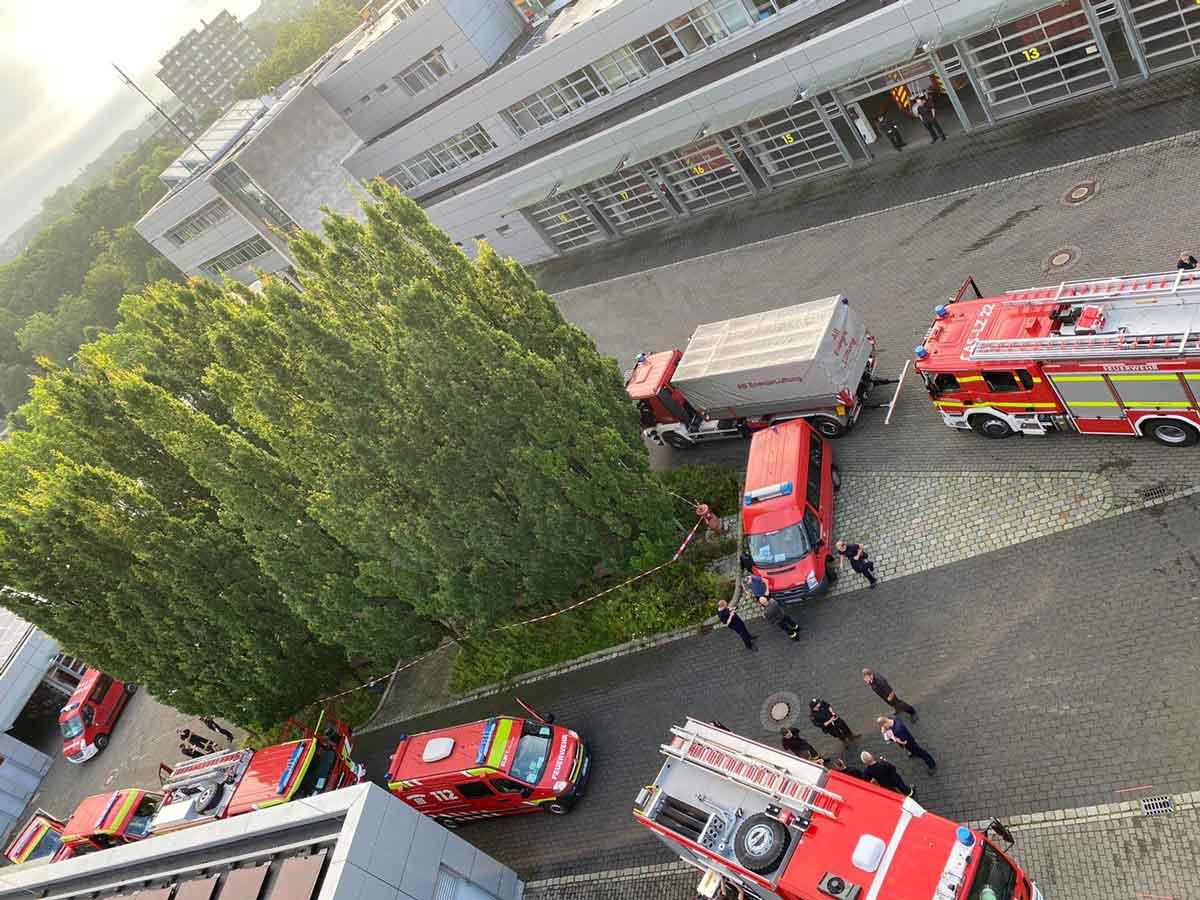 Sammeln der Feuerwehr-Bereitschaft Kreis Recklinghausen